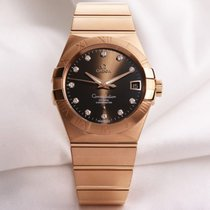 Omega Constellation Co-Axial Diamond 18K Rose Gold