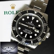 Rolex Submariner Date Steel Black Ceramic Dive Watch Box/Paper...