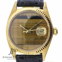Rolex Datejust Tiger Eye Stone Dial 18kt Yellow Gold