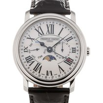 Frederique Constant Business Timer 40 Moonphase White Dial