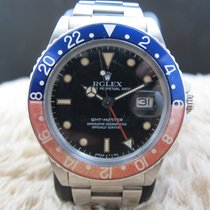 Rolex GMT MASTER 16750 Pepsi with Nice Patina and Solid Band