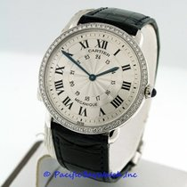カルティエ (Cartier) Ronde Louis Mid-Size 18k White Gold Pre-Owned