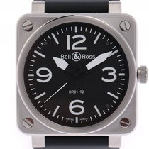 Bell & Ross Aviation BR 01-92 Stahl Kautschuk Automatik...