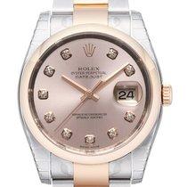 Rolex Datejust 36 Edelstahl Roségold 116201 Pink DIA
