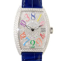 Franck Muller New  Color Dreams 18k White Gold Silver Automati...