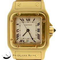 Cartier Santos 100 Solid 18k Yellow Gold (120gr) Quartz Watch...