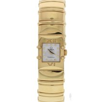 Omega Ladies Omega Constellation Bangle 18k Yellow Gold W/ Box...