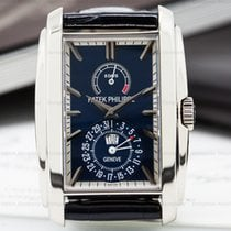 Patek Philippe 5200G-001 Gondolo 8 Day Manual Wind Blue Dial...