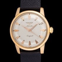 Longines vintage mint Conquest screw back pink gold, two tone...