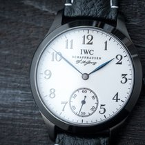 IWC Schaffhausen Marriage Watch F.A.Jones c.1923 steel/black PVD