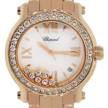 Chopard 277481 Happy Sport MOP Diamond Dial Watch