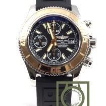 Breitling Superocean Chronograph II steel/pink gold Rubber...