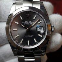 Rolex Datejust 41 Rhodium Index Dial Oyster Bracelet 126300 NEW