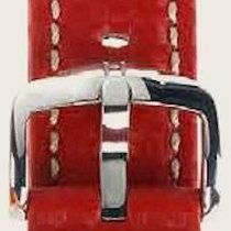 Hirsch Uhrenarmband Leder Carbon rot L 02592020-2-18 18mm