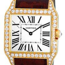 """Cartier Diamond """"Santos Dumont"""" Strapwatch."""