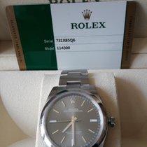 Rolex Oyster Perpetual LC100 Zifferblatt dark rhodium