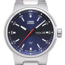 Oris Motor Sport Williams Day Date Edelstahl-Gliederarmband