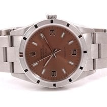 Rolex 34mm Stainless Steel Air-King 14000 Model - Rose Arabic...