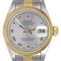 Rolex Ladies Rolex Datejust Watch with Smooth Gold Bezel 69163