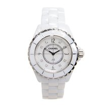Chanel J12 J12 Ceramics White Quartz H3214