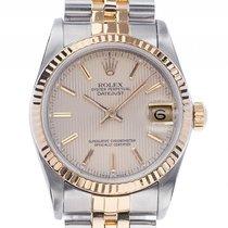 Rolex Datejust Medium Stahl 18kt Gelbgold Automatik Armband...