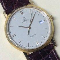 Omega De Ville Mens Gold 18K Quartz Vintage Watch