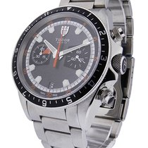 Tudor 70330N Heritage Chrono - Steel on Bracelet with Grey Dial