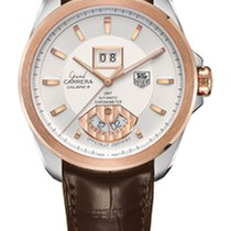 TAG Heuer Calibre 8RS Grande Date GMT Silver Dial Rose Gold...