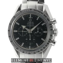 Omega Speedmaster Broad Arrow Chronograph Steel 42mm Black...