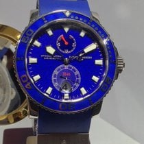 Ulysse Nardin White gold  Maxi Marine Diver limited edition watch