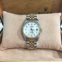 Rolex Datejust S/G 36mm, Custom m.o.p Diam Dial 16233, 1990