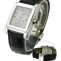 Cartier W1533451 Tank A Vis Jumping Hour Paris Privee in White...