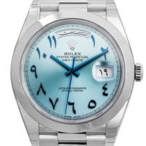 Rolex Day-Date 40 Platinum Arabic Script Watch 228206