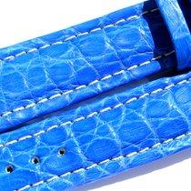Breitling Band 20mm Croco Blue Blau Azul Strap Ib008