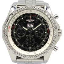 Breitling Bentley 6.75 A44362 Men's 48mm Black Index...