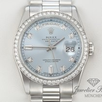 Rolex Daydate 118346 Platin 950 Diamanten Automatik 36 mm Day...
