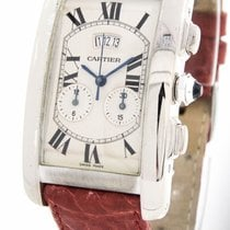 "Cartier ""American Tank Chronograph 2569"" Watch 18k..."