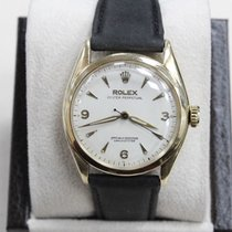 Rolex Oyster Perpetual 6084 14k Yellow Gold Bubble Back 34mm...
