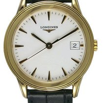 Longines Flagship 18kt Solid Gold Mens Luxury Quartz Strap...