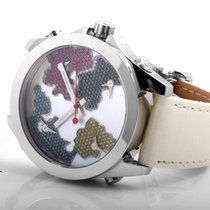 Jacob & Co. SS 5 Time Zone Mother of Pearl Dial w/ Diamonds -...