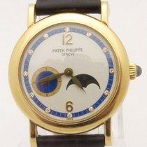 Patek Philippe 4857J Lady's Watch Calatrava Diamond Moon...