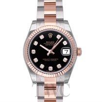 롤렉스 (Rolex) Datejust Lady 31 Black Steel/18k rose gold Dia...