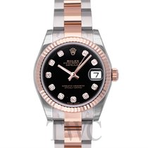 ロレックス (Rolex) Datejust Lady 31 Black Steel/18k rose gold Dia...
