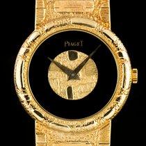 Piaget 18k Yellow Gold Onyx Dial Ladies Dress Watch 9040 A80
