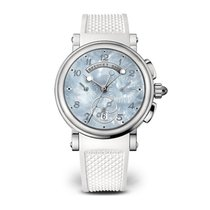 Breguet Marine Chronograph Mother of Pearl Dial Strap Ladies...