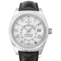 Rolex Sky-Dweller Ivory 18k White Gold/Leather 42mm - 326139