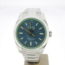 Rolex Milgauss BLueDial GreenSaphire (BOXonly2015) MINT 40mm