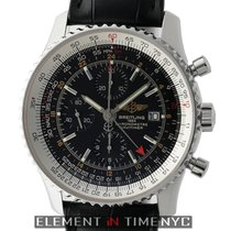Breitling Navitimer World Stainless Steel Black Dial 46mm On...