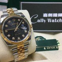 Rolex Cally - 116233 Datejust 36 SS / YG Black Diamond Dial [NEW]