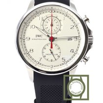 IWC Portuguese Yacht Club Chronograph White Dial NEW